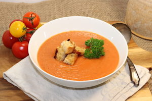 Tomato-Potato Soup with Roasted Garlic   urbnspice.com