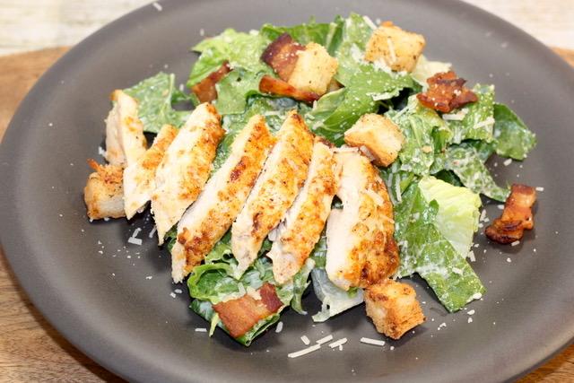 Caesar Salad and Parmesan Chicken Breasts | urbnspice.com