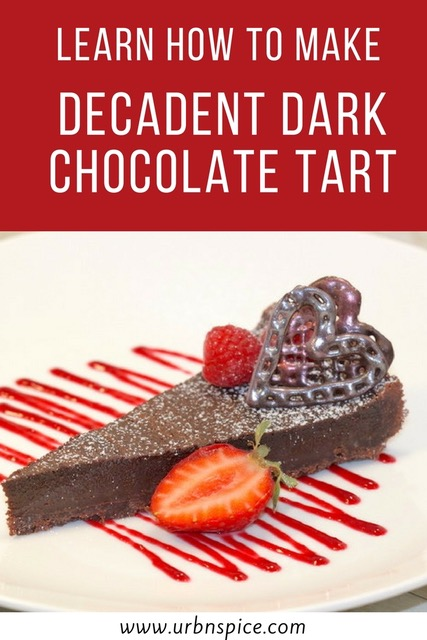 Dark Chocolate Tart long pin   urbnspice.com
