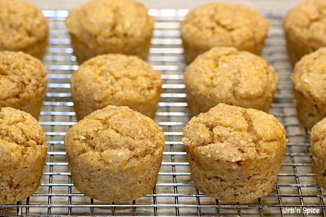 Whole Grain Gluten Free airy Free Mini Muffins | urbnspice.com