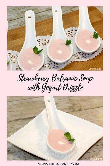 Strawberry Balsamic Soup | urbnspice.com