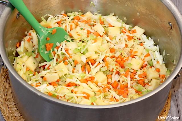 Blenditarian Hamburger Soup Vegetables   urbnspice.com