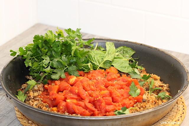 Turkey, Mushroom and Power Greens Pasta   urbnspice.com