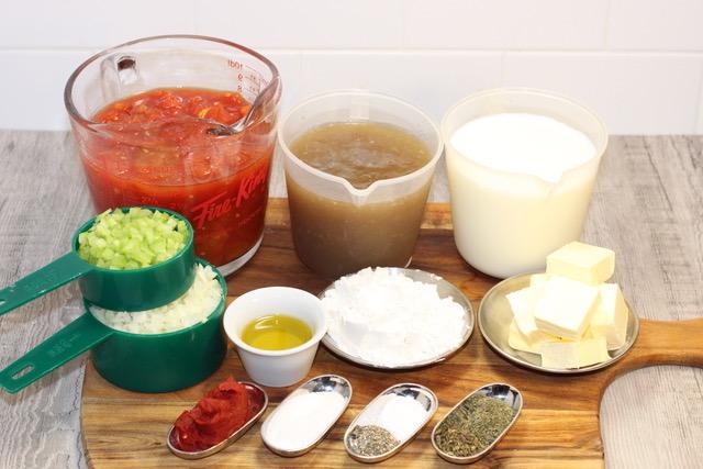 Gourmet Creamy Tomato Soup ingredients   urbnspice.com