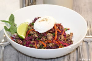 Savoury Blenditarian Brunch Pork with Vegetables & Fine Herbs | urbnspice.com