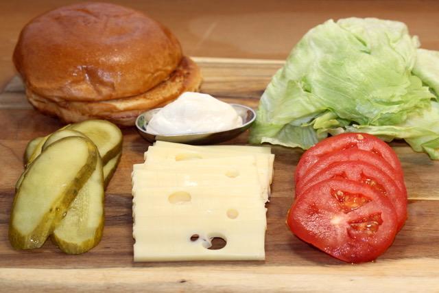 Turkey Mushroom Jarlsberg Burger Toppings   urbnspice.com