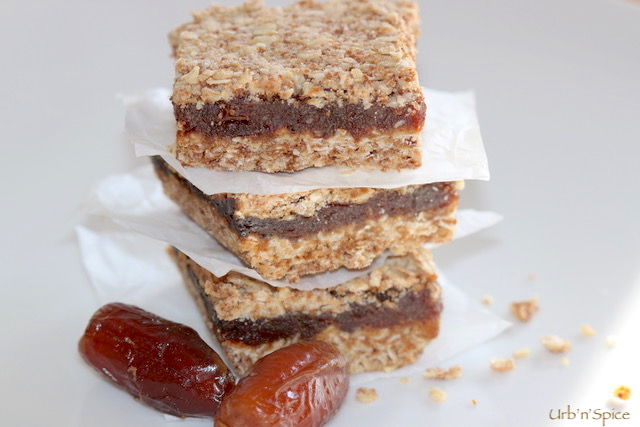 Ultimate Date Oatmeal Squares   urbnspice.com