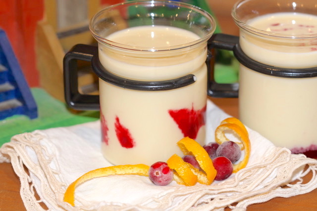 Dairy Free White Chocolate Eggnog in a small cup   urbnspice.com