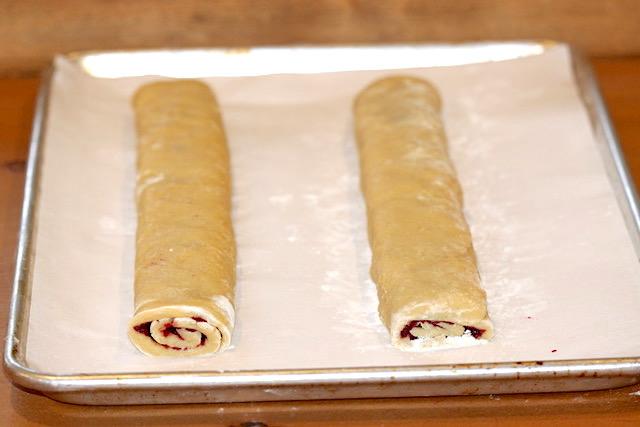 biscotti logs ready to bake