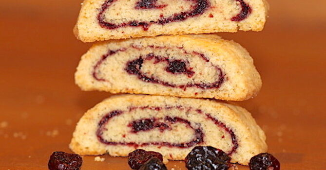 Holiday Pinwheel Biscotti