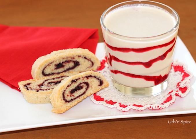 Holiday Pinwheel Biscotti and Eggnog