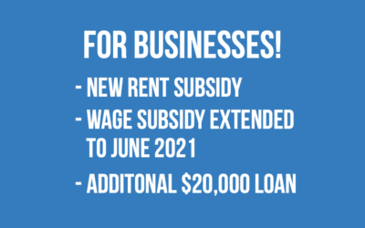 New Canada Emergency Rent Subsidy | Wage Subsidy extended | CEBA additional $20,000 loan