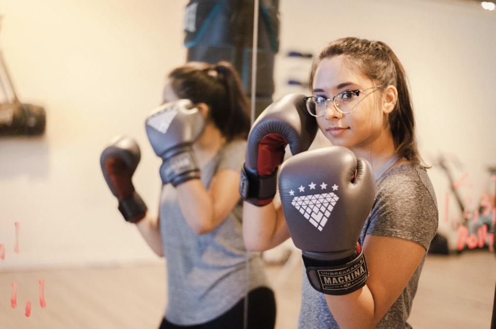 Strong confident boxer