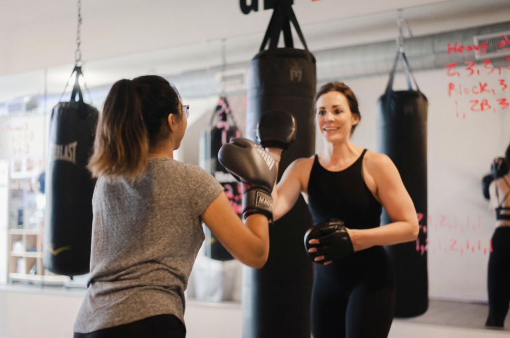 Jen Helping Boxer
