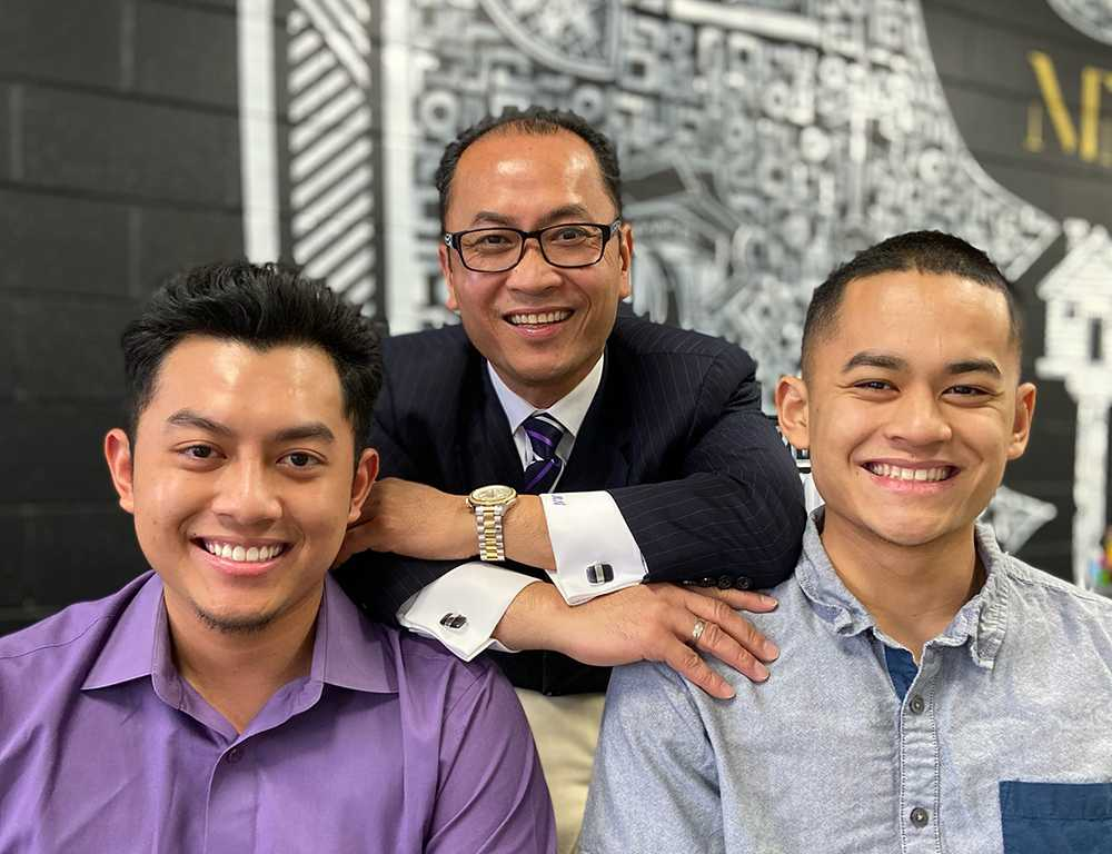 Mony For Mayor 2020 - Meet Mony - Mony and his 2 sons, Andrew and Ryan - Livermore CA
