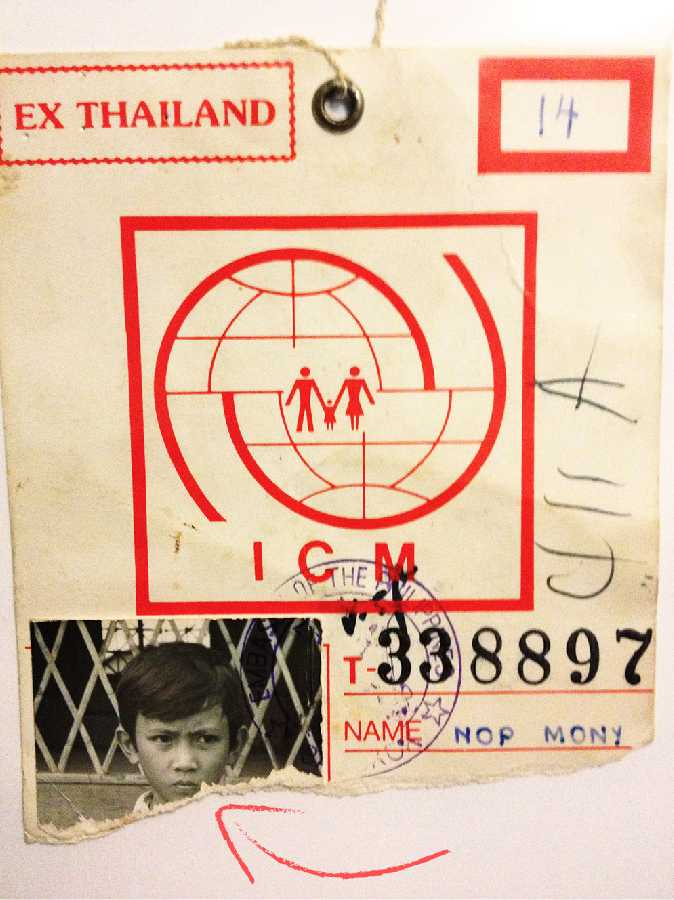 Mony For Mayor 2020 - Meet Mony - 1983 - Mony and his family had qualified to travel to America through Manila - Mony's only chilhood photo