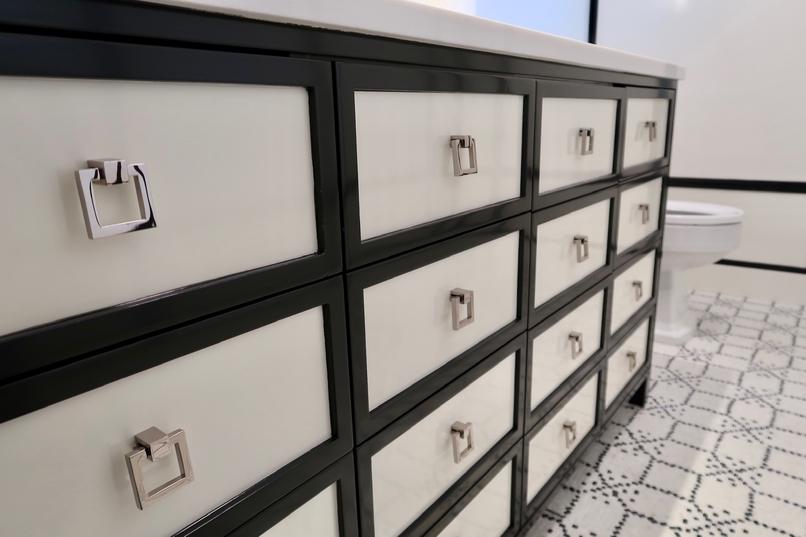 bathroom custom drawers
