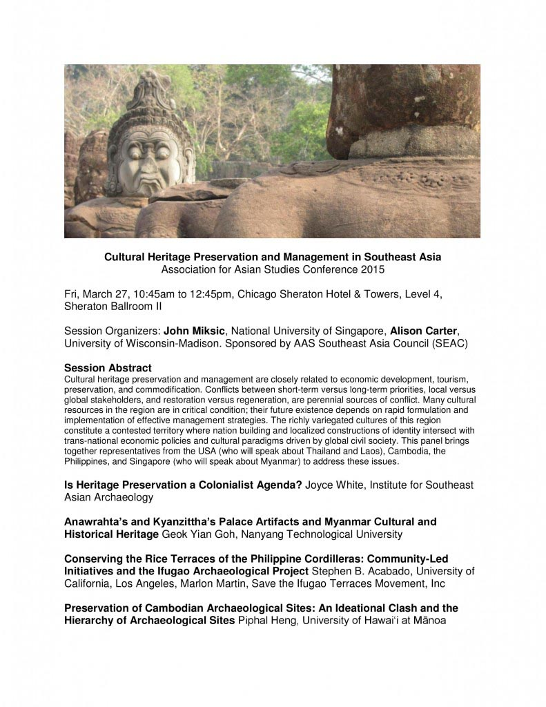 AAS 2015 Conference to feature ISEAA director on cultural preservation & management panel