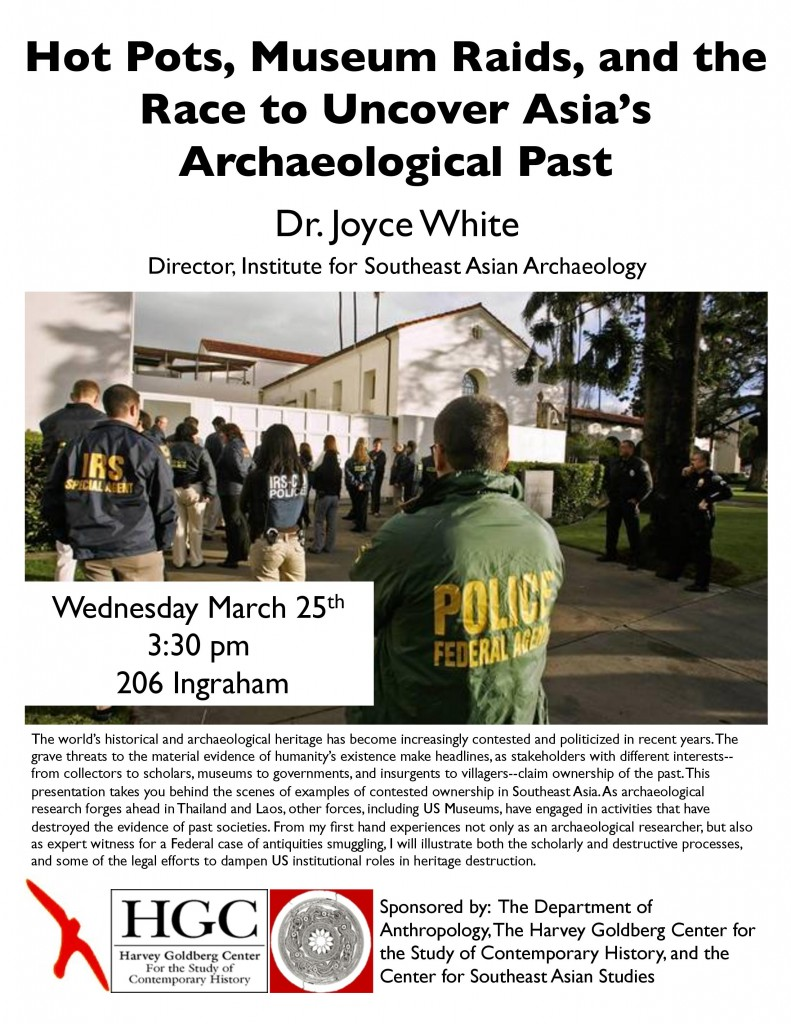 """Director Joyce White to give """"Hot Pots"""" talk at University of Wisconsin-Madison"""
