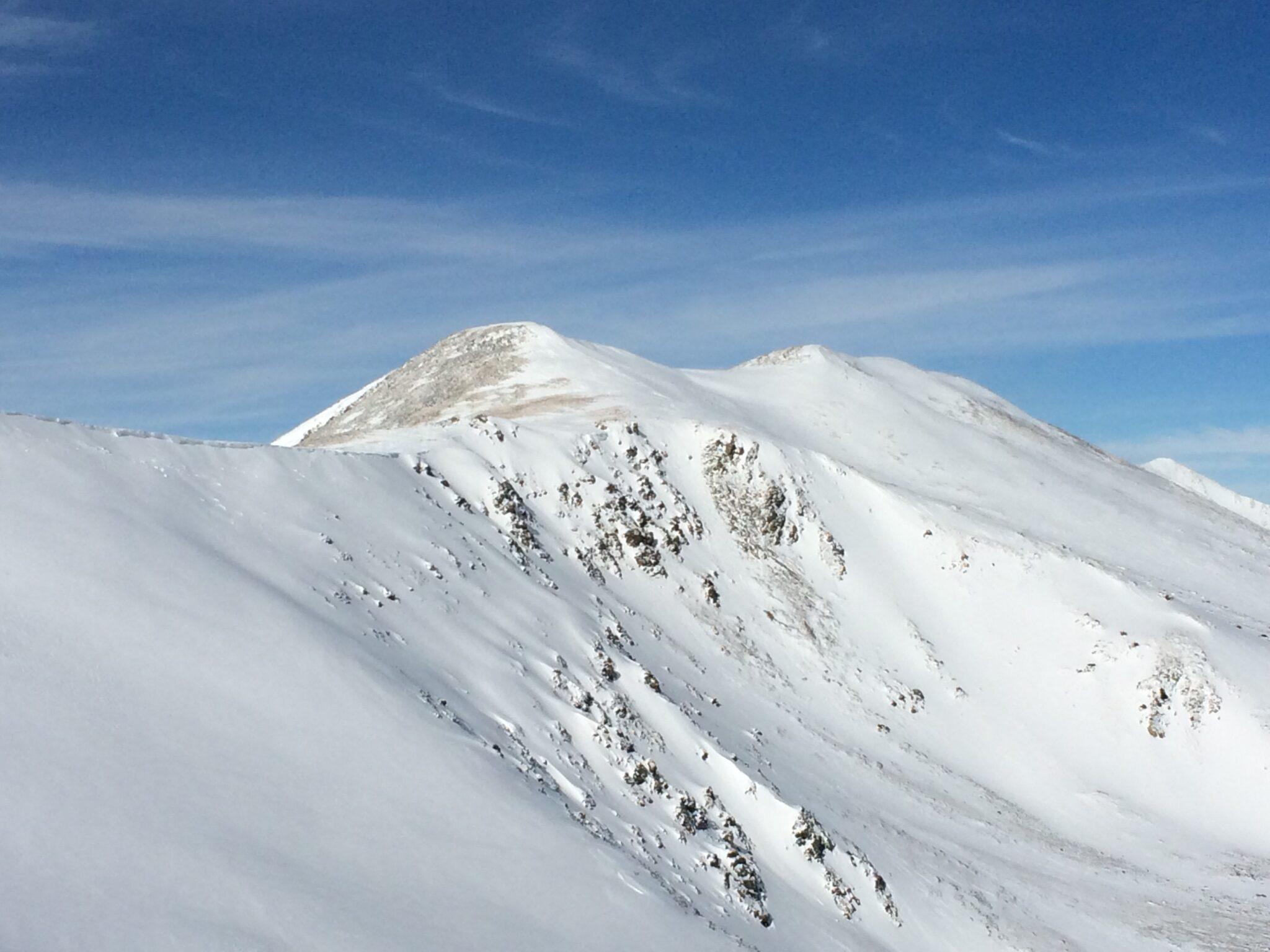 White snowy mountain peaks