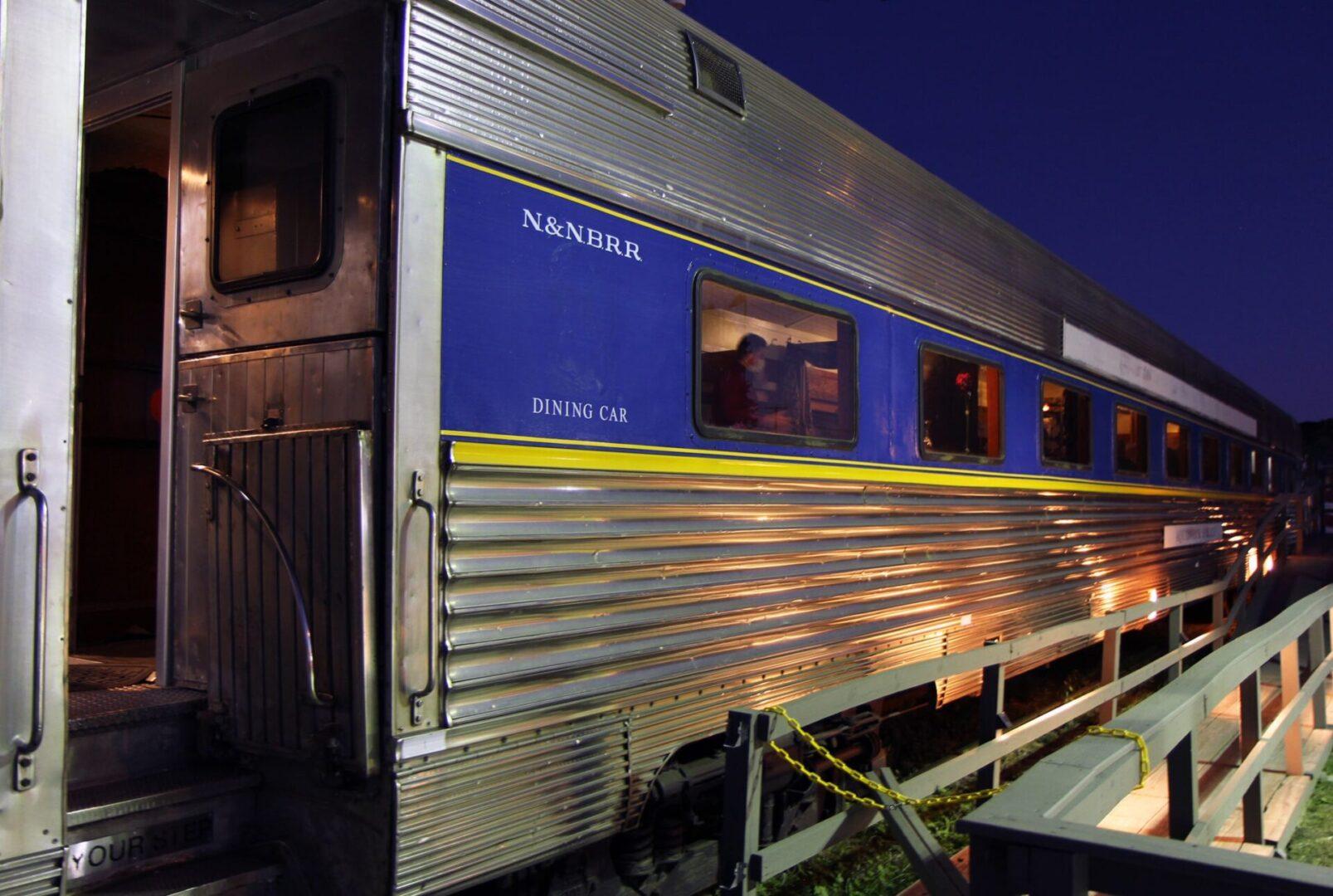 Grand Bellevue train in the evening
