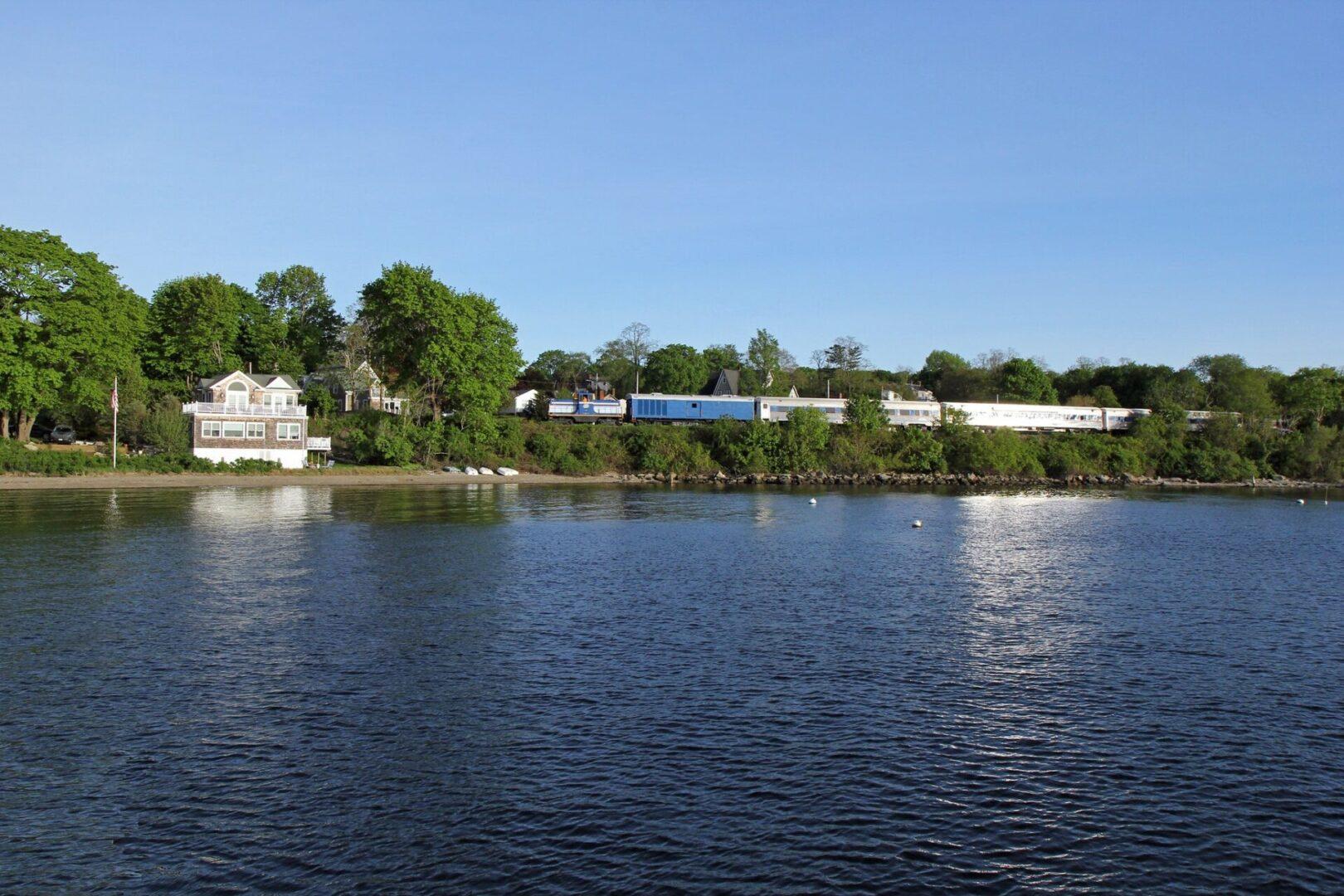 Grand Bellevue train at Bristol Ferry in Portsmouth, Rhode Island