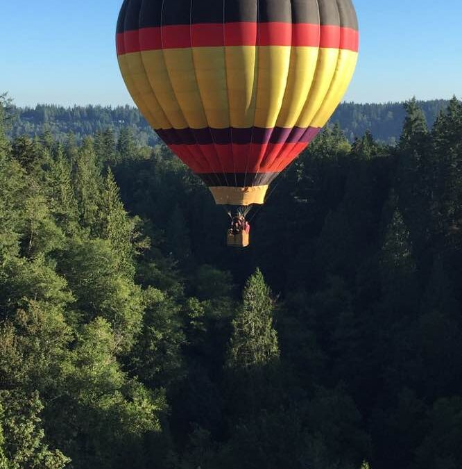 Best Way To Make New Friends? Land A Hot Air Balloon In Their Back Yard