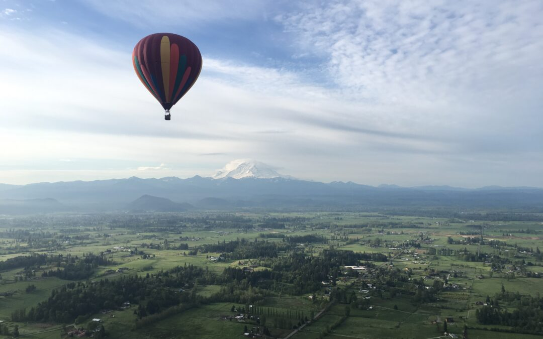 Are there hot air Balloon rides near me? Try Auburn, Washington, just 20 min South of Seattle