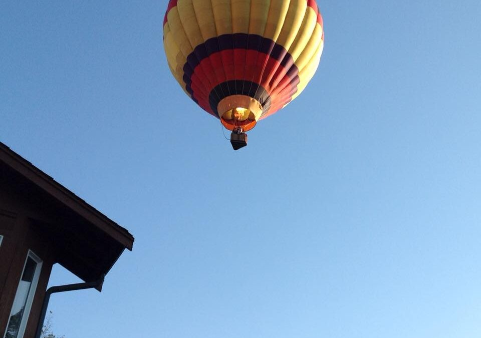 Is That A Hot Air Balloon Landing In The Front Yard?