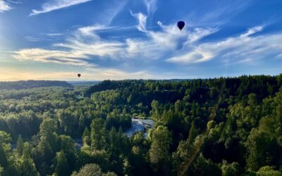 Hot air balloons and airspace