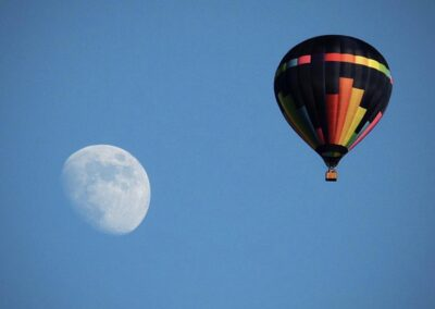 Hot air balloon or UFO flying