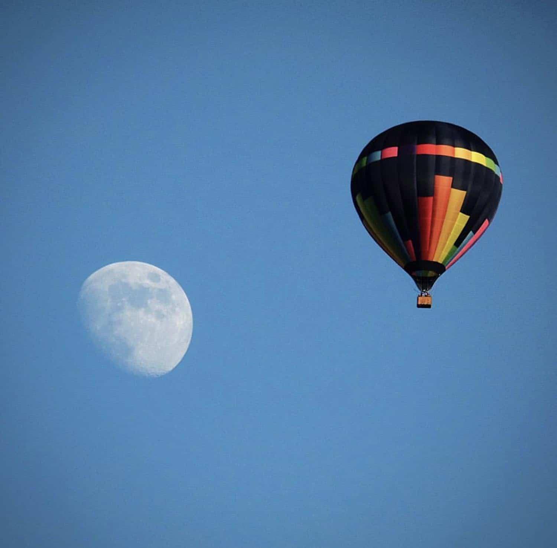 Mercer Island hot air balloon rides sunset