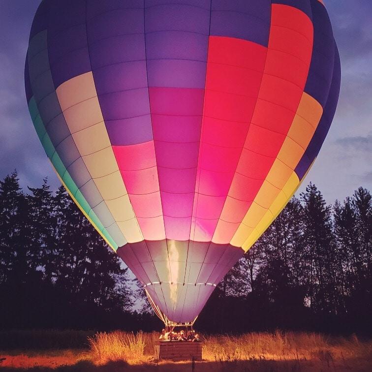 Balloon glowing