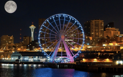 Seattle Great Wheel – Best View Of Seattle A Hot Air Balloon Ride
