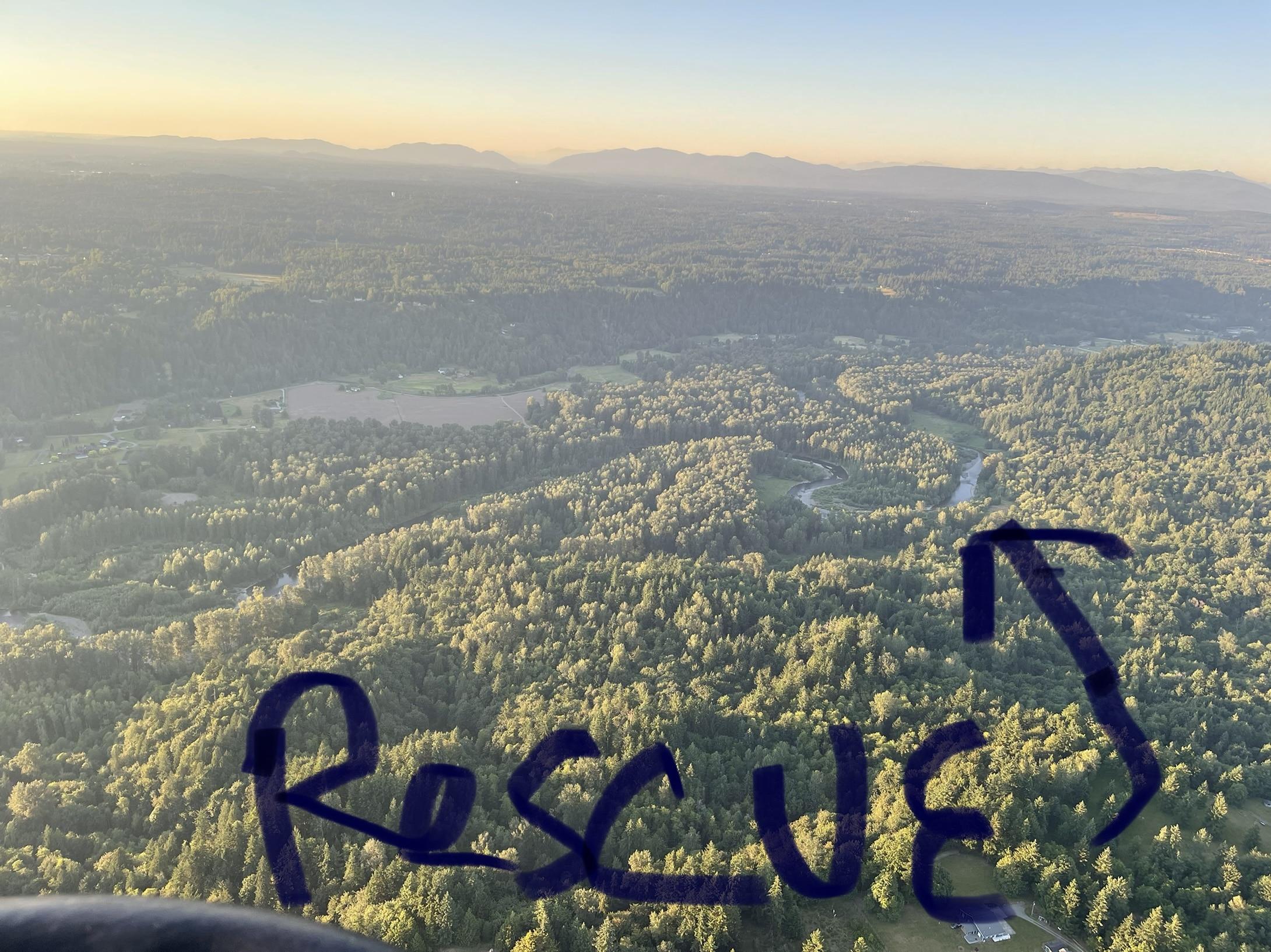 Hot air balloon rescue