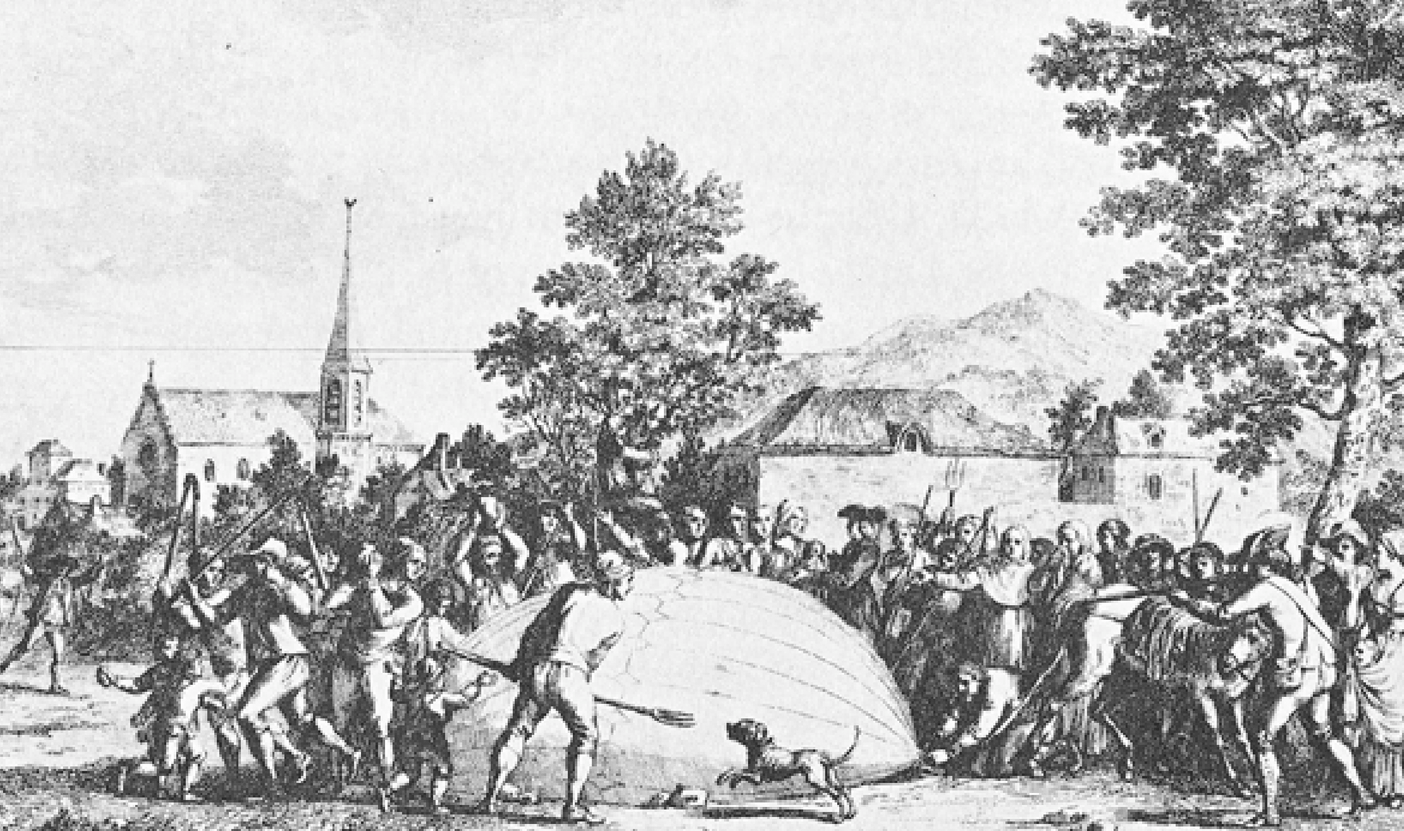 montgolfier brothers first hot air balloon destroyed