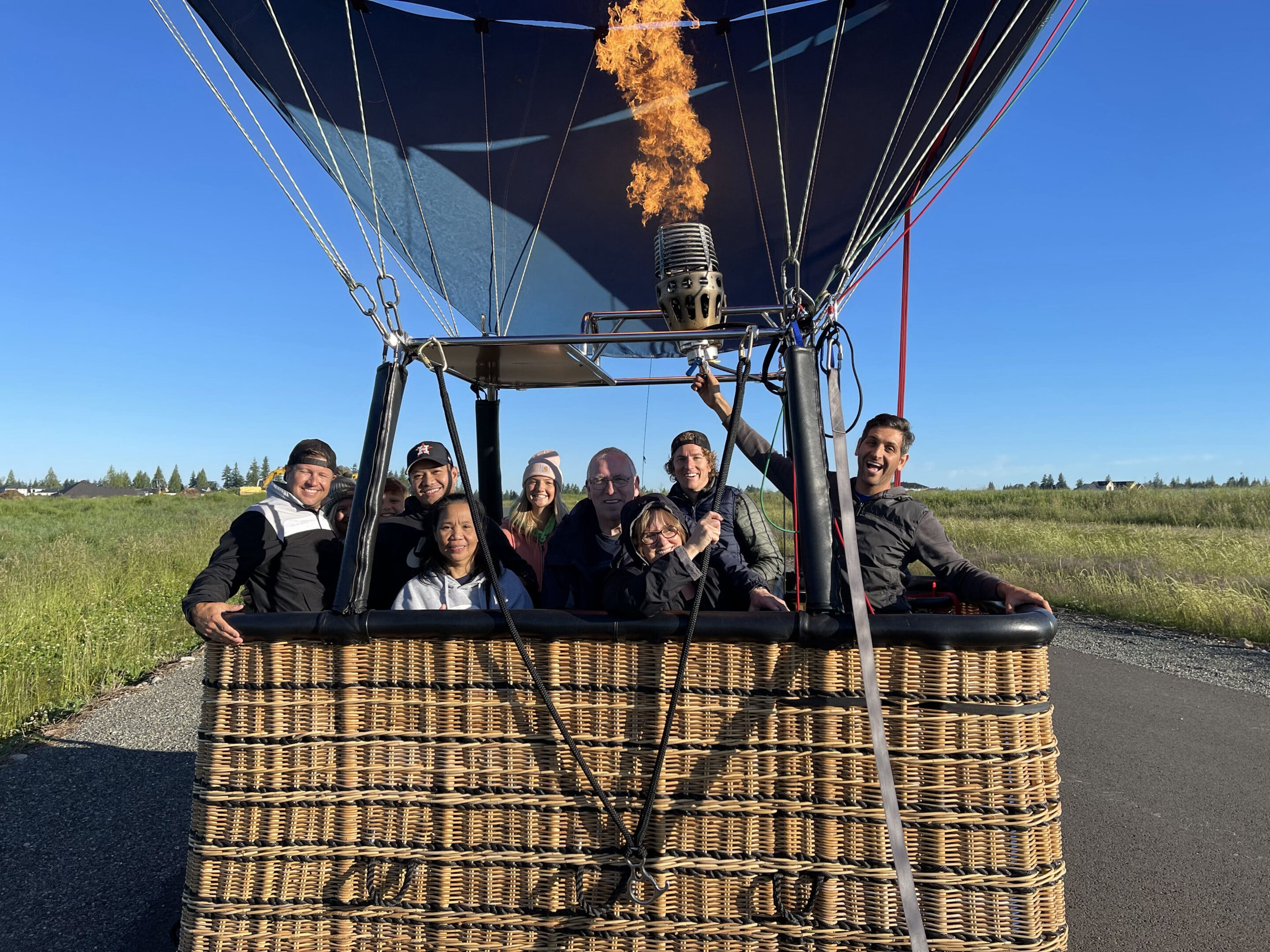 hot air balloon rides with group