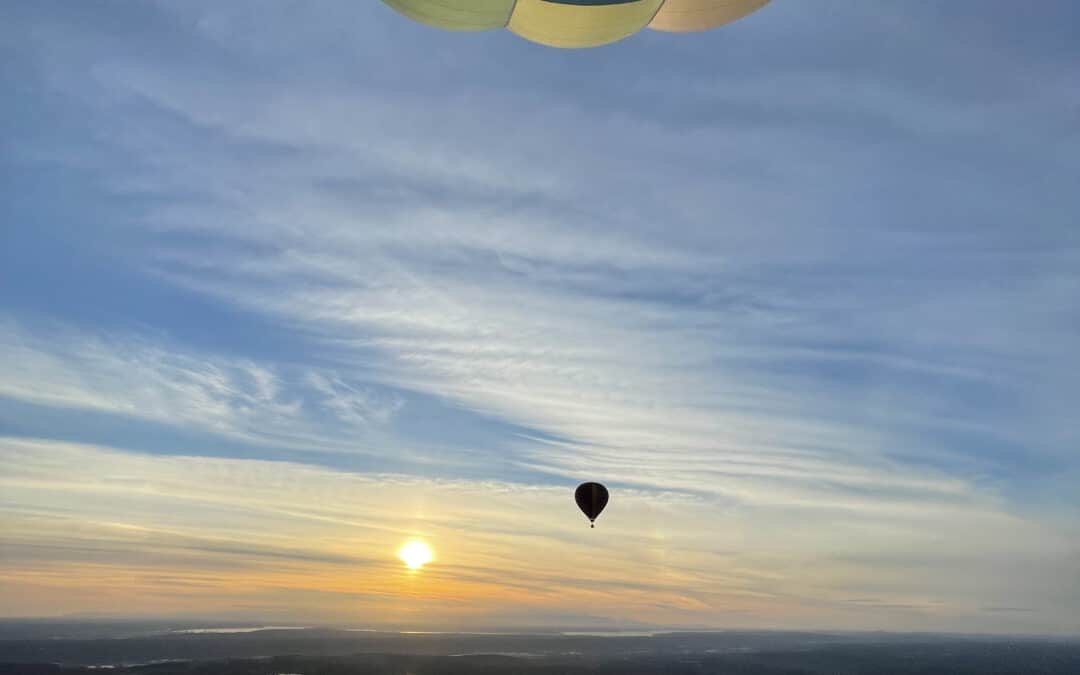 What weather is good for hot air ballooning?
