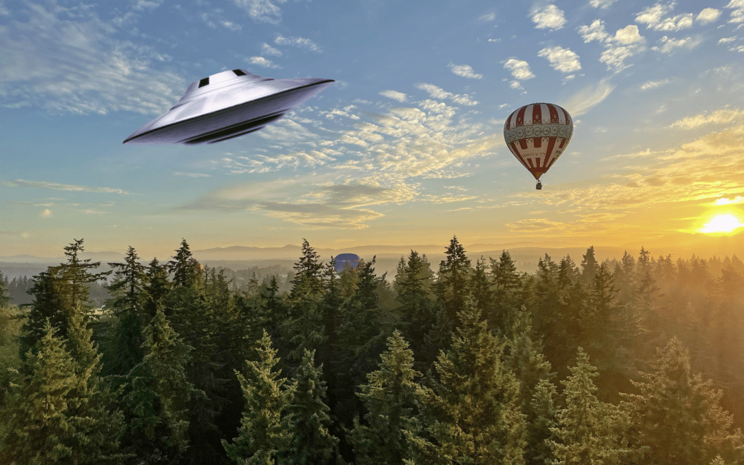 Hot air balloons and UFO's: A history of mistaken identity