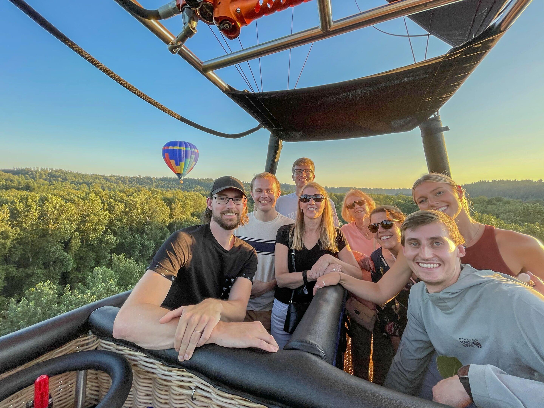 Group hot air balloon ride