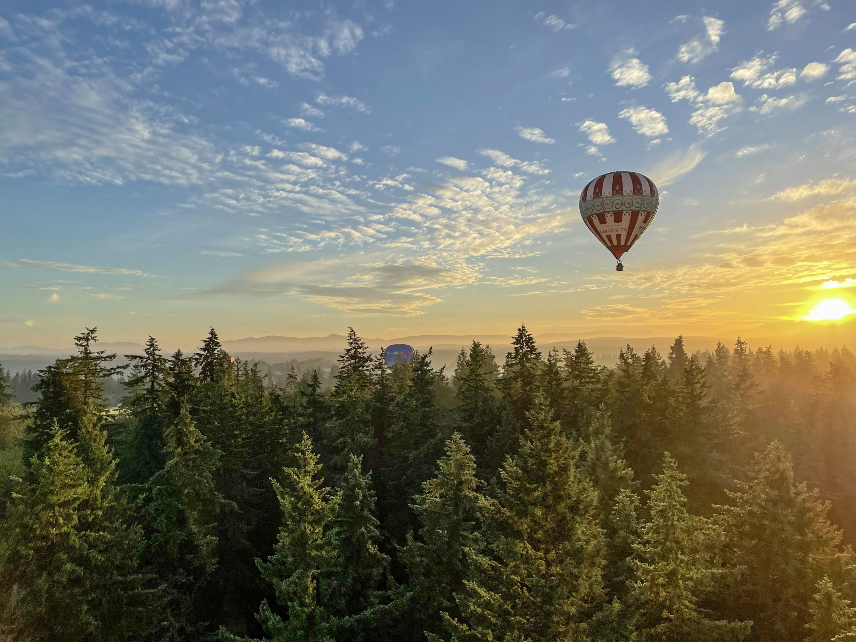 hot air balloons flying like ufos