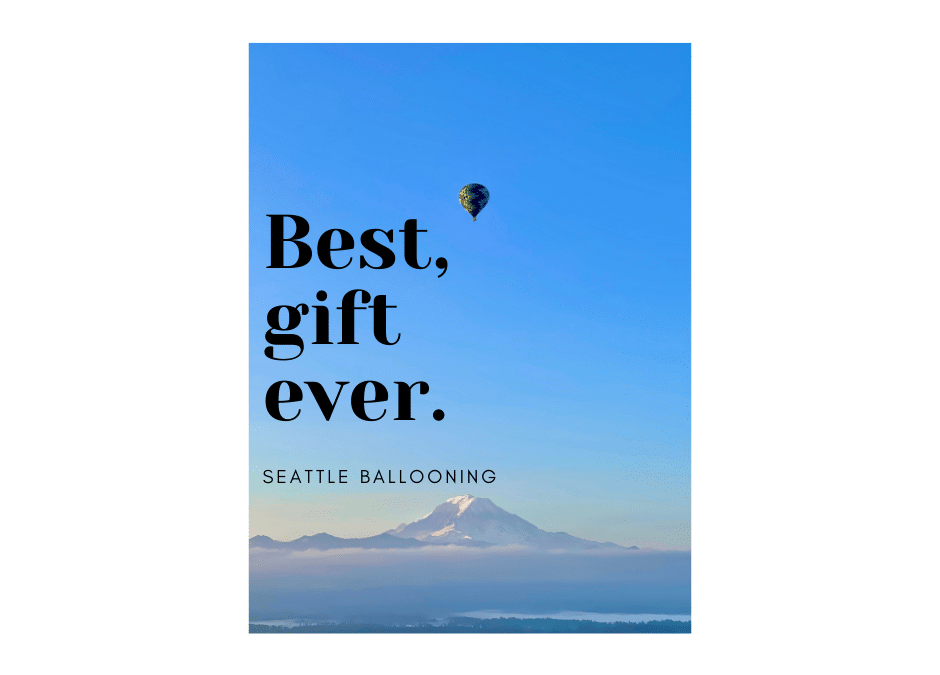 Hot Air Balloon Special Discount Seattle Balloon Rides