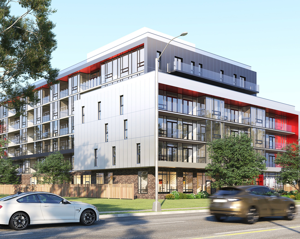 Mondria 1 project exterior view in summers