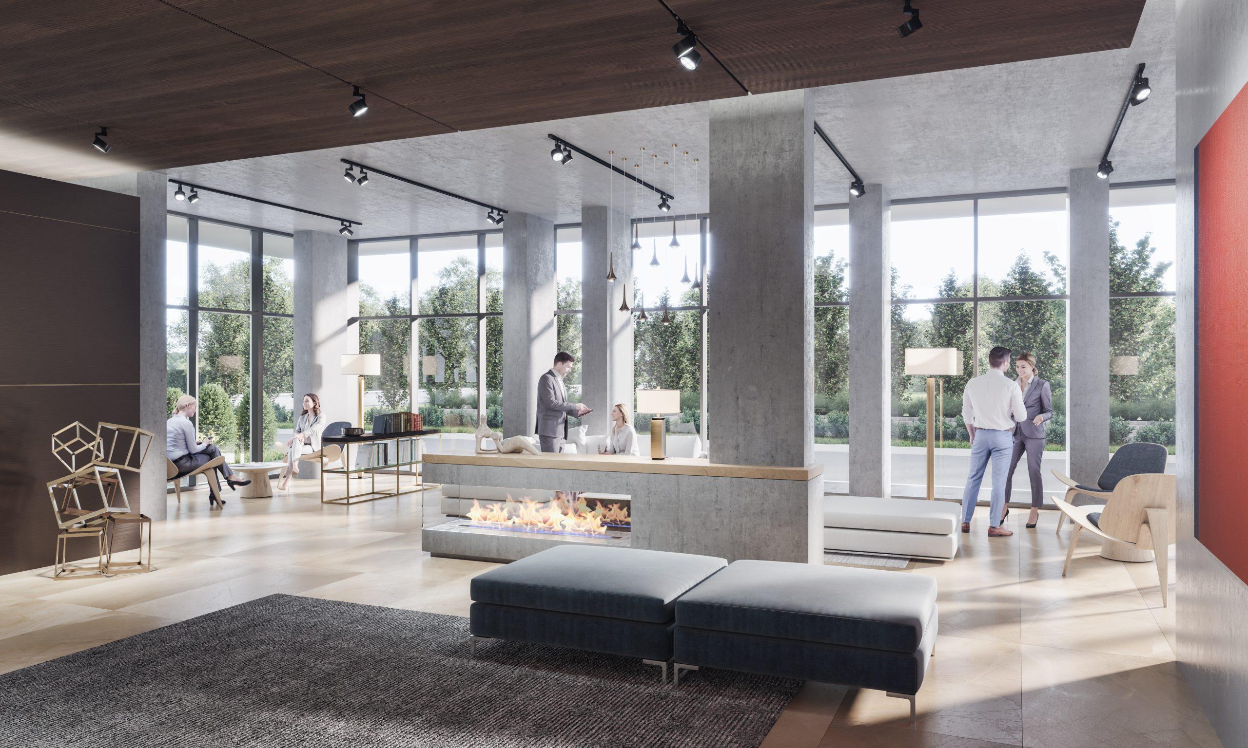 Lobby lounge at Mondria 1