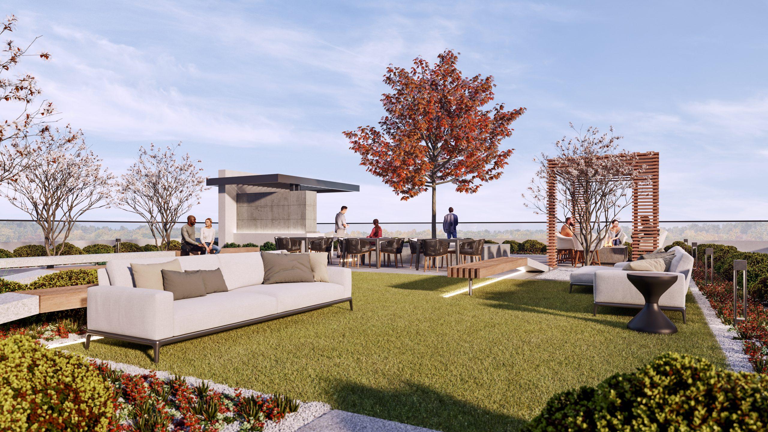 Rooftop patio at Mondria 1