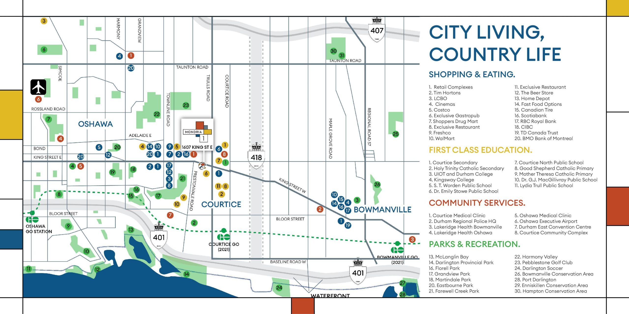 Courtice Area Map