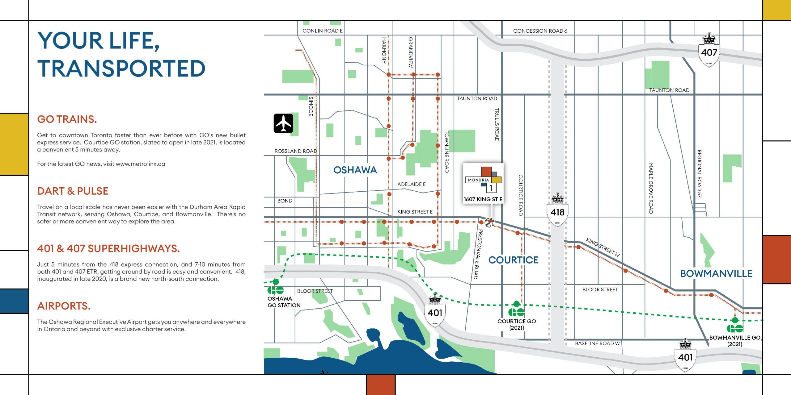 Courtice Transit Map