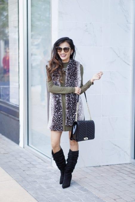 Misook, shop Mari boots, slouchy boots, Prada sunglasses