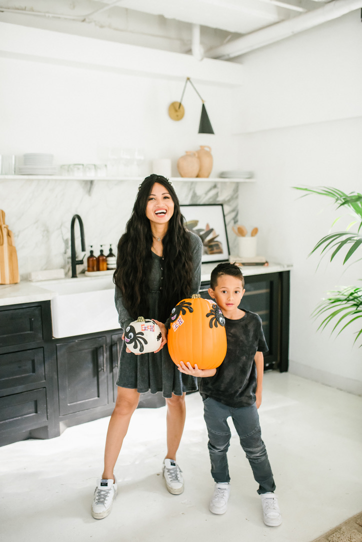 mommy and me, pumpkins, Halloween kid's crafts