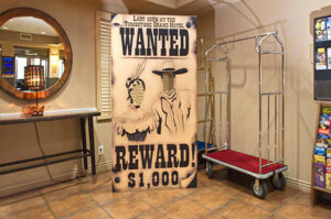 A wanted poster decor